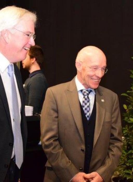 Eric Leman, peter van de campagne en de gouverneur van West-Vlaanderen
